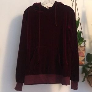Maroon Silence and Noise velour hoodie